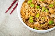 Fried noodle asian food on the table Stock Photos
