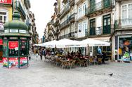 PORTO, PORTUGAL - February 23, 2016. Street view of old town Porto, Portugal, Stock Photos