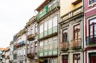 PORTO, PORTUGAL - February 23, 2016. Street view of old town Porto, Portugal, Stock Photos