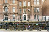 Amsterdam, Netherlands - March 31, 2016 : Beautiful street view of Traditiona Stock Photos