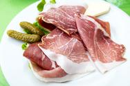 Close up of tasty cold meats on the table Stock Photos