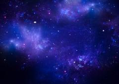 Deep space, abstract blue background Stock Illustration