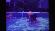 1972: children playing outdoor LYNBROOK, NEW YORK Stock Footage