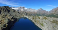 Mountain lake - Aerial view 4k Stock Footage