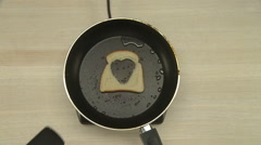 Top view of chef cooking toast Stock Footage