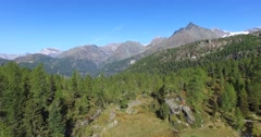 Alpine lake - Aerial view 4k Stock Footage