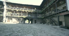 Bulgarian monastery built of wood and stone Stock Footage