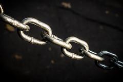 Shiney dramatic chain Stock Photos