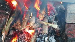 Wood Burning Stock Footage