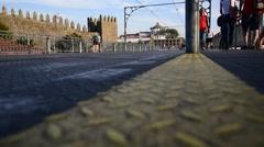 Dom Luis bridge, Porto, Portugal. Stock Footage