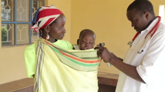 Maternal, Neonatal and Child Health clinic Stock Footage