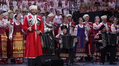 RUSSIA, SOCHI - JUL 2016: World Choir Games. The State's Kuban Cossack Stock Footage