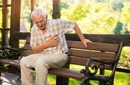 Senior guy has heartache. Stock Photos