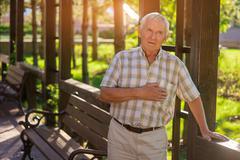 Elderly man has heart ache. Kuvituskuvat