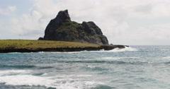 4K Paradise tropical beach. Idyllic Shore Beach, Fernando de Noronha, Brazil Stock Footage