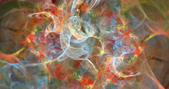 4K format abstract multicolored swirling background seamless looping fractal Stock Footage