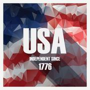 Low poly independence day modern design poster. American holiday Stock Illustration