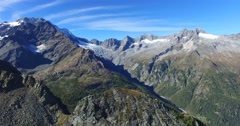 Panoramic view - Mountains and glaciers Stock Footage
