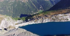 Lago Pirola (Valmalenco) - Aerial view 4k Stock Footage