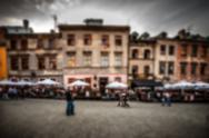 Blurred image of old Lublin, Poland Stock Photos