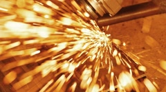 HD - Sparks. Metalworking close-up. Slow-mo Stock Footage