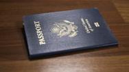 Dolly Parallax Shot of USA Passport, Shallow DOF Stock Footage