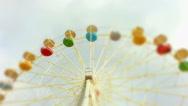 Big wheel against clouds. Stock Footage