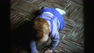 1972: toddlers is seen crawling LYNBROOK, NEW YORK Stock Footage