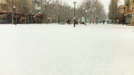Snow in the city. Slow Motion. Stock Footage