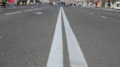 Marking on the road, asphalt Stock Footage