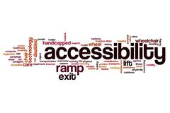 Accessibiltiy word cloud Stock Illustration