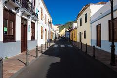 San Sebastian de la Gomera. Street view. Stock Photos