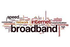 Broadband word cloud Stock Illustration