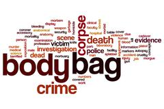 Body bag word cloud Stock Illustration