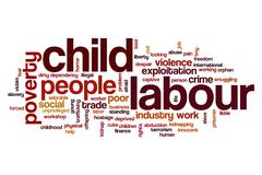 Child labour word cloud Stock Illustration