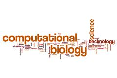 Computational biology word cloud Stock Illustration