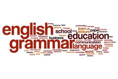 English grammar word cloud Stock Illustration