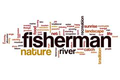 Fisherman word cloud Piirros