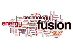 Fusion word cloud Stock Illustration