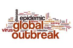 Global outbreak word cloud Stock Illustration