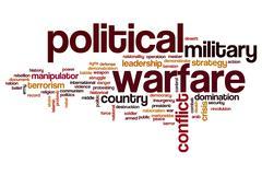 Political warfare word cloud Stock Illustration