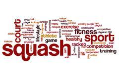 Squash word cloud Stock Illustration