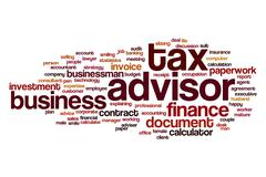 Tax advisor word cloud Stock Illustration