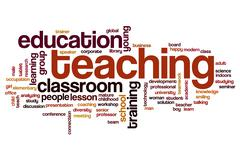 Teaching word cloud Stock Illustration