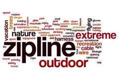 Zipline word cloud Stock Illustration
