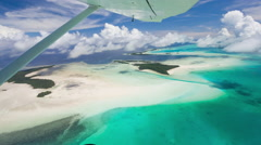 Palau tropical islands and lagoon from the air Stock Footage