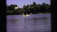 1972: small boat on the river LYNBROOK, NEW YORK Stock Footage