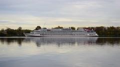Ship on the Volga Stock Footage