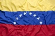 Textile flag of Venezuela Stock Photos