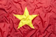 Textile flag of Vietnam Stock Photos